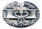 Combat Medic Miniature Badge Silver-Oxide Finish