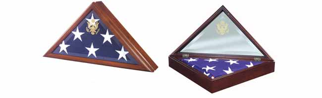 Walnut Presidential Flag Case
