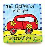 """The Lord be With You Wherever You Go"" Tile"