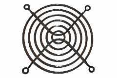 92mm Wire Formed Fan Guard, Black - Click to enlarge