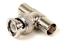 Coaxial T Adapter, BNC Female / Male / Female - Click to enlarge
