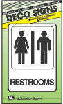 "HY-KO - 5"" x 7"" Heavy Duty Plastic Restrooms Sign"