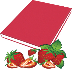 Book Sox - Scented Jumbo Book Cover - Strawberry