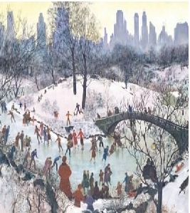 Pressman - Smithsonian 1000 Piece Puzzle - Skaters In The Park