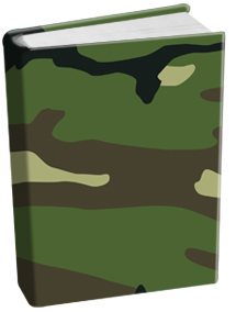 Book Sox - Standard Size Print Color - Camo Green