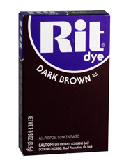 Rit - 1-1/8 oz. Powder Dye - Dark Brown