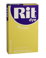 Rit - 1-1/8 oz. Powder Dye - Yellow