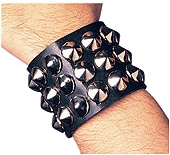 Rubies - Wide Studded Wristband
