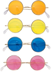 Rubies - Round Feelin Groovy Hippie Glasses