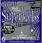 Rubies - Giant Spider Web - Black
