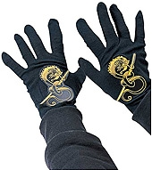 Rubies - Children's Black Ninja Gloves