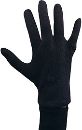 Rubies - Black Cotton Gloves