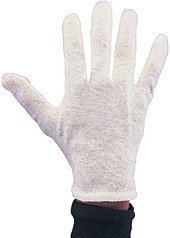 Rubies - White Cotton Gloves