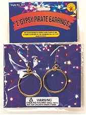 "Rubies - Pirate / Gypsy 2"" Earrings"