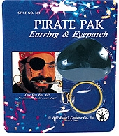 Rubies - Pirate Earring & Eyepatch