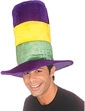 Rubies - Tri- Color Mardi Gras Top Hat