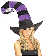 Rubies - Funky Purple Striped Witch Hat
