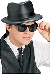 Rubies - Blues Singer Hat & Glasses Set
