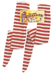 Rubies - Red & White Striped Witch Socks