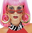 Rubies - Hoop earrings with Lips