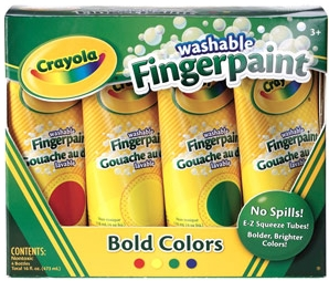 Crayola - 4 PK Bold Colors Asst Washable Fingerpaint