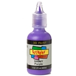 Scribbles - Dimensional Fabric Paint - SHINY PURPLE