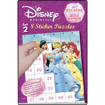 Disney Princess & Sticker Puzzles Set 2