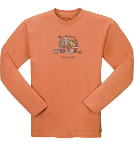 Life Is Good - Men's Crusher Long Sleeve Tee - Football Tailgate