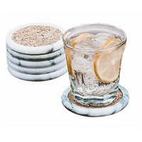 Fox Run - 6 PK MARBLE COASTER SET
