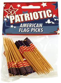 Fox Run - USA Flag Party Toothpicks