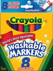 Crayola 8 Count Washable Broad Line Marker