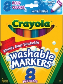 Crayola 8 Count Assorted Broad Tip Bold Washable Marker