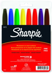 Sharpie - 8 CT Assorted Color Set - Fine
