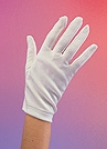 Rubies - Ladie's White Parade Gloves