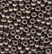 Pewter 8/0 Duracoat Galvanized Seed Beads