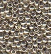 Silver 8/0 Duracoat Galvanized Seed Beads