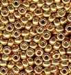 Gold 8/0 Duracoat Galvanized Seed Beads