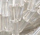 #2 Bugle Beads Transparent Crystal