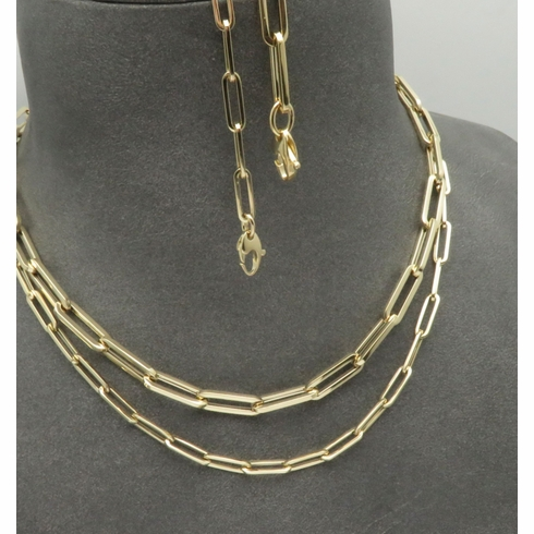 Paperclip Necklaces and Bracelets!     Genuine 14K Yellow Gold