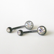 Blackline Curved Piercing Barbell | Navel Barbell | Belly Ring