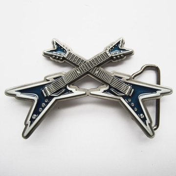 New Vintage Blue Enamel Cross Electric Guitar Belt Buckle Gurtelschnalle Boucle de ceinture BUCKLE-MU061BL