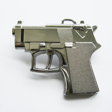 Belt Buckle (Silver Bright Hand Gun)