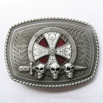 New Vintage Enamel Celtic Shield Skull Sword Belt Buckle Gurtelschnalle Boucle de ceinture