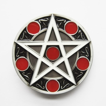 New Enamel Vintage Cross Star Circle Totem Round Belt Buckle Gurtelschnalle Boucle de ceinture  BUCKLE-MU105