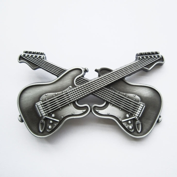 New Vintage Cross Double Guitars Music Belt Buckle Gurtelschnalle Boucle de ceinture BUCKLE-MU094AS