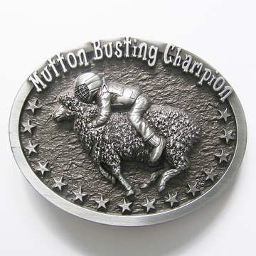 New Vintage Original Oval Mutton Busting Champion Western Belt Buckle Gurtelschnalle Boucle de ceinture