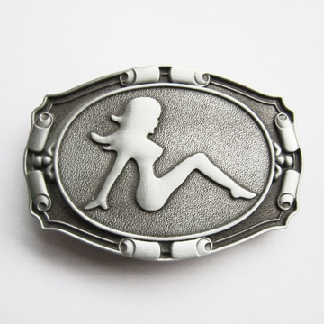 New Vintage Truck Mud Flap Girl Biker Rider Belt Buckle Boucle de ceinture