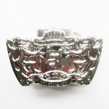 New Bright Silver Lions Crown Lighter Belt Buckle Gurtelschnalle Boucle de ceinture