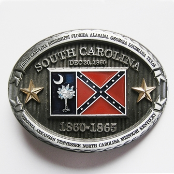 New Vintage Western Oval South Carolina Flag Belt Buckle Gurtelschnalle Boucle de ceinture BUCKLE-FG016