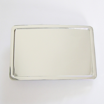 Classic Bright Silver Rectangle Blank Belt Buckle Custom Belt Buckle